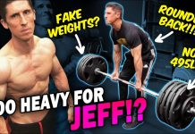 "Jeff Cavaliere - Athlean-X || NO APOLOGY… JUST TERRIBLE DEADLIFT FORM WITH ""REAL"" WEIGHTS?"