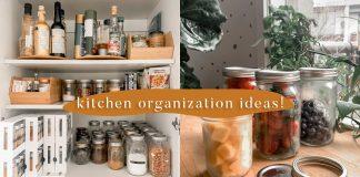 Easy Kitchen Organization Ideas // Small kitchen budget hacks