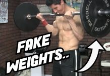 Jeff Cavalier ATHLEAN-X Using Fake Weights