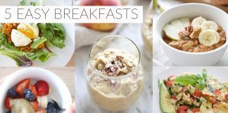 5 EASY BREAKFAST RECIPES | healthy paleo + dairy-free breakfast ideas