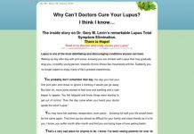 New! Proven Lupus Treatment By Dr Gary Levin M.d