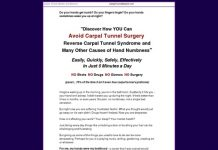 Carpal Tunnel Remedy - Carpal Tunnel Master, Self-Help Remedy for Carpal Tunnel Syndrome
