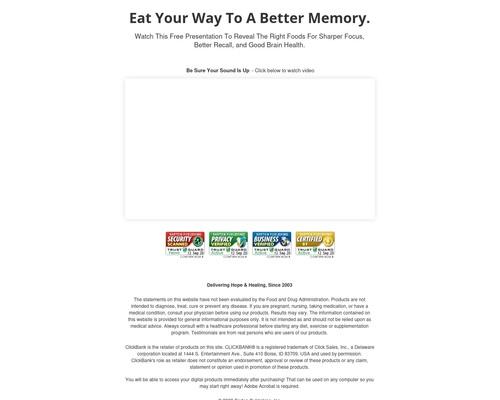 Improve Your Brain Memory Video Presentation