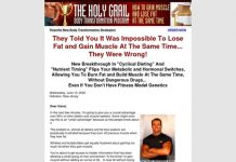 Holy Grail Body Transformation, Lose Fat and Gain Muscle, Body Recomposition, Bulking Up
