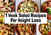 7 Healthy & Easy Salad Recipes For Weight Loss | 1 week Veg Lunch & Dinner Ideas to Lose Weight