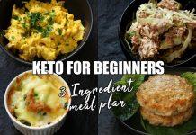 Keto for Beginners - 3 Ingredient Keto Meal Plan | How to start Keto | Free Keto Meal Plan
