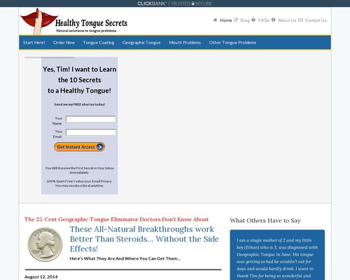 Healthy Tongue Secrets Revealed - Geographic Tongue | Healthy Tongue Secrets