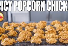 SPICY POPCORN CHICKEN | Low Carb High Protein Bodybuilding Recipe