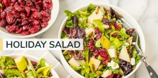 MY GO-TO HOLIDAY SALAD | easy winter salad recipe