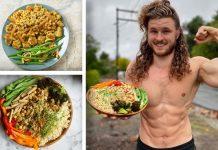 Vegan High Protein Full Day of Eating | MACROS INCLUDED (BULKING)