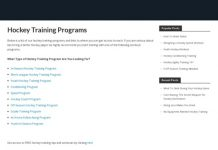 Hockey Training Programs - Workout Programs For Hockey Players