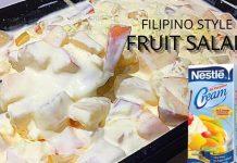 Fruit Salad using Fruit Cocktail | Creamy Fruit Salad Filipino Style