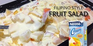 Fruit Salad using Fruit Cocktail | Creamy Fruit Salad Filipino Style