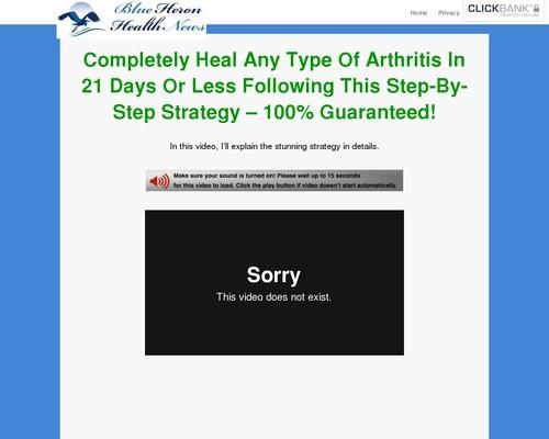 Cure Arthritis Naturally - Blue Heron Health News