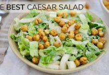 CAESAR SALAD RECIPE | light, easy healthy salad