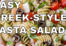 GREEK STYLE TRI-COLOUR PASTA SALAD RECIPE | Perfect For Any Occasion